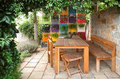 The Green Pockets wall planter - patio outdoor use contemporary-patio