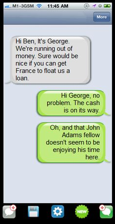 Create a Text Message Exchange Between Fictional Characters