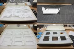 Today in the lab….Graduate Conservation Assistant Laura Panadero builds sunken housing for eight Daguerrotypes and Ambrotypes. The Ethafoam surroundings keep these delicate images from shifting, and the soft Tyvek lining protects the leather covers from abrasion. Small tabs of Tyvek are secured under the mountings and allow the Daguerrotypes to be pulled up easily, thus reducing the potential for further damage. One Daguerrotype had been separated from its case and required a special ...