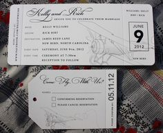 Love this idea for invitations! Maybe with a little color!  Google Image Result for http://emdotzee.com/blog/wp-content/uploads/2012/10/Cream-and-Black-Vintage-Airplane-Come-Fly-With-Us-themed-Airline-Ticket-Wedding-Invitations-Luggage-Tag-RSVP-1024x838.jpg