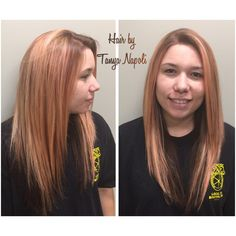 Rose gold so pretty hair done by Tanya Napoli