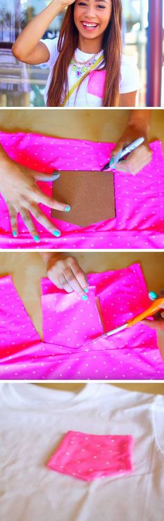 Pocket T-Shirt | DIY Tumblr Clothes for Teens for Summer | Upcycled Clothing Ideas Trash to Couture