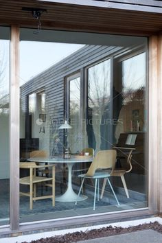 Height Shutters For Patio Doors In This Chic Open plan Kitchen Design