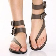 Shop affordable trendy flat shoes for women at shoespie. You can find various of cute flat shoes for huge discount including rhinestone thong flat sandals, rhinestone gladiator flats, embellished leather flat shoes. Gladiator Sandals, Shoes Sandals, Flat Sandals, Women Sandals, Flat Shoes, Brown Sandals, Jesus Sandals, Leather Sandals, Simple Sandals