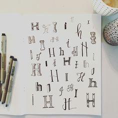 #handlettering #alphabet www.lifeidesign.com letters HI lifeidesign.jpg