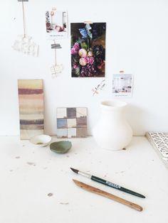 my working space |  White Atelier BCN ceramics