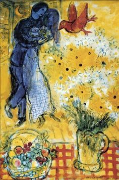 Lovers and Flowers Marc Chagall