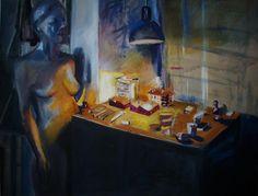 "www.sierocinska.pl  ""City"" Jadwiga Sierocinska Paintings, City, Paint, Painting Art, Cities, Painting, Painted Canvas, Drawings, Grimm"