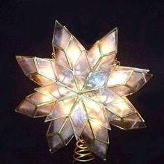10-Lights Clear Capiz Star Tree Topper