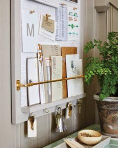 DIY entryway organizer
