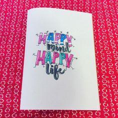 Eigen werk Magda DeGryse 24/07/2017 @dutchlettering @marijketekent #dutchlettering #dutchletteringchallenge #moderncalligraphy #calligraphyquote #brushlettering #brushlettering2017 #happymindhappylife