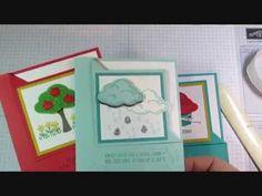 Stampin' Up! Embellished Ornaments Corner Flip Card + Video Tutorial | Julie's Stamping Spot | Bloglovin'