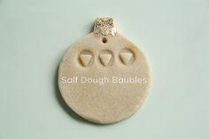 Salt Dough Bauble DIY