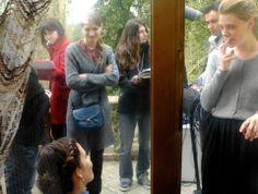 Pause clope: Macha Ovtchinnikova (réalisatrice), Ophélie Bazillou (actrice), Ornella Boulé (actrice), Anouk Levoyer (assistante real), Maud Martin (scripte), Alexandre Ornaghi (ingé son)