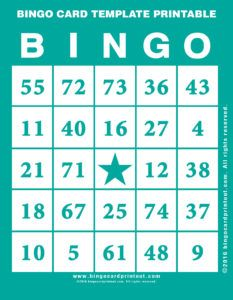 12 Best Bingo Card Template Printable images in 2016 | Bingo ...