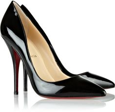 Womens Red Bottom Heels Christian Louboutin Batignolles 120mm Black Patent Leather Pointed Toe Pumps sale online in www.buyheelshoes.com