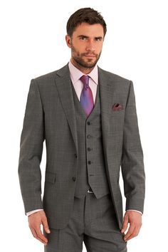 Savoy+Taylors+Guild+combines+elegant+tailoring+with+traditional+style+for+suits+that+make+statements+to+last+a+lifetime.+This+Savoy+Taylors+Guild+grey+windowpane+mixer+suit+jacket+is+single+breasted+with+a+notch+lapel.+It+has+two+outer+pockets+and+an+outer+breast+welt.+It+has+a+two+button+fastening+and+comes+with+matching+suit+trousers+to+complete+the+look.