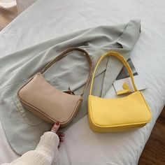 Vintage Bags, Vintage Handbags, Aesthetic Bags, Accesorios Casual, Luxury Purses, Small Tote Bags, Backpack Purse, Cute Bags, Mellow Yellow