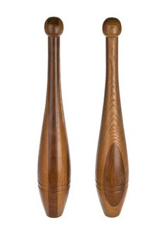 Vintage Handmade Juggling Pins or Indian Clubs - Set of 2