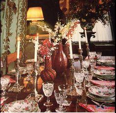 Jean Vanderbilt elegant dining.