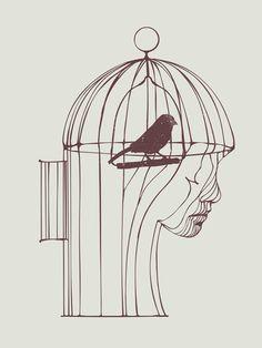 """Be Alone"" Art Print by Huebucket on Society6."