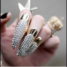 Cute Finger Nail Claw Rings.