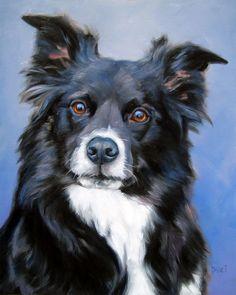 Personalizados mascotas pinturas del retrato por puciPetPortraits