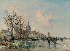 Johan Barthold Jongkind - Schaatsvertier bij Overschie (1864)