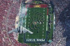 USAF B-2 BOMBER - FLYOVER - USC vs PENN STATE FOOTBALL GAME