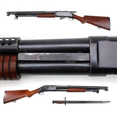 """""""Gun of the Day – Winchester Model 1897 """"Trench"""" shotgun Our GOTD was a pump-action shotgun was respected on both sides in the First World War. Capable…"""""""