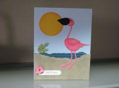 Stampin' Up!  Bird Punch  Christine Gaydos  Flamingo