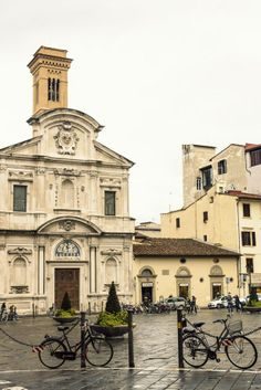 """Chiesa di Ognissanti, Florence, the Vespucci Family Church.  Botticelli's """"Saint Augustine"""" is here, also Ghirlandaio's """"Saint Jerome.""""  And yet few tourists ever go there."""