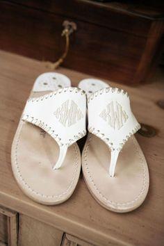 monogrammed Jack Rogers sandals | Martha Manning #wedding