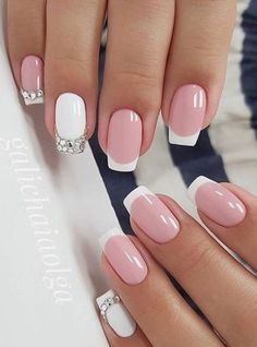 French Manicure Gel Nails Ideas Nailart 17 New Ideas French Manicure Gel Nails, French Tip Nail Art, White Tip Nails, Manicure E Pedicure, Hallographic Nails, Nail Polish, Manicure Ideas, Nail Nail, Acrylic Nails