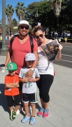 This adorable family didn't mind taking a break to take a picture with our new Halloween issue! #dtla #ciclavia #losangeles #events #la #downtownla