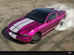 Pink Mustang! Always wanted a Mustang GT convertible! Weehaw!