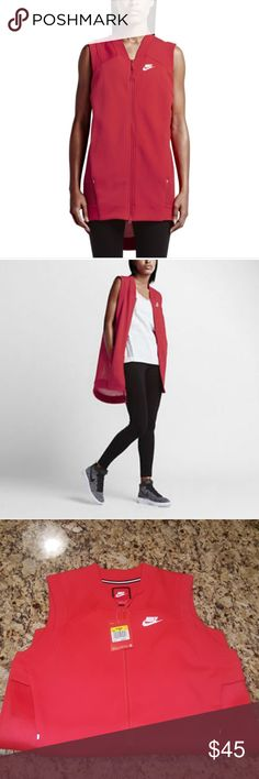 WOMENS TECH FLEECE MESH COCOON VEST #725846-696 Ladies i have this beautiful light crimson vest made with 69% cotton 31%polyester This beauty has a zipper in the center and pockets in the front SIZE IS SMALL(4-6) super soft and fashionable price is negotiable Nike Sweaters