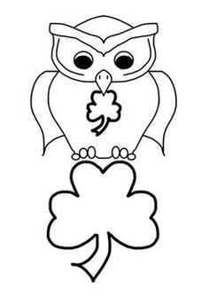 March Shamrocks, Kites, and Owls Clip Art Freebie 6 png graphics