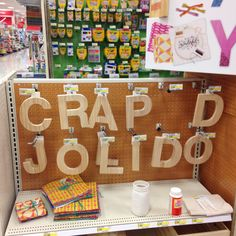 Someone spelled out the word CRAP inside the Indianapolis, Indiana Target Store.
