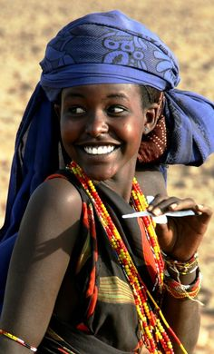 Gabra girl from northern Kenya.