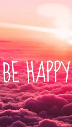 Be Happy Puffy Clouds #iPhone #5s #wallpaper