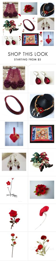 """Pretty in Reds"" by artistinjewelry ❤ liked on Polyvore featuring Hostess, Tiffany & Co., Sur La Table, kitchen and vintage"