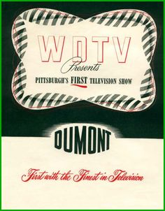 Front cover of program presented to guests of the inaugural WDTV telecast, 1949