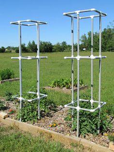 Tomato Garden, Vegetable Garden, Gardening Vegetables, Garden Trellis, Garden Plants, Spring Garden, Home And Garden, Tomato Cages, Plant Supports