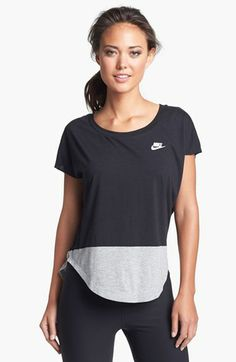 Nike 'Freestyler Block' Short Sleeve Top available at #Nordstrom