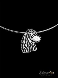 Gordon Setter jewelry by Amit Eshel. www.SiberianArtJewelry.etsy.com