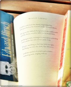 """Let the library help you prepare for National Poetry Month in April. Start with """"How To Read A Poem""""  by Edward Hirsch. You can find my favorite poem of his in """"The Living Fire""""."""