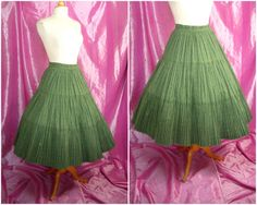 Vintage 50s Circle Skirt  1950s Tiered