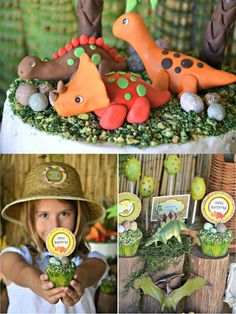 Dinosaur party ideas for a super roaring birthday party! Lots of DIY decorations, party printables, food and fun!   #dinosaur #dinosaurparty #dinosaurbirthday #sdinosaurpartyideas