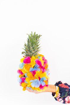 DIY Floral Pineapple